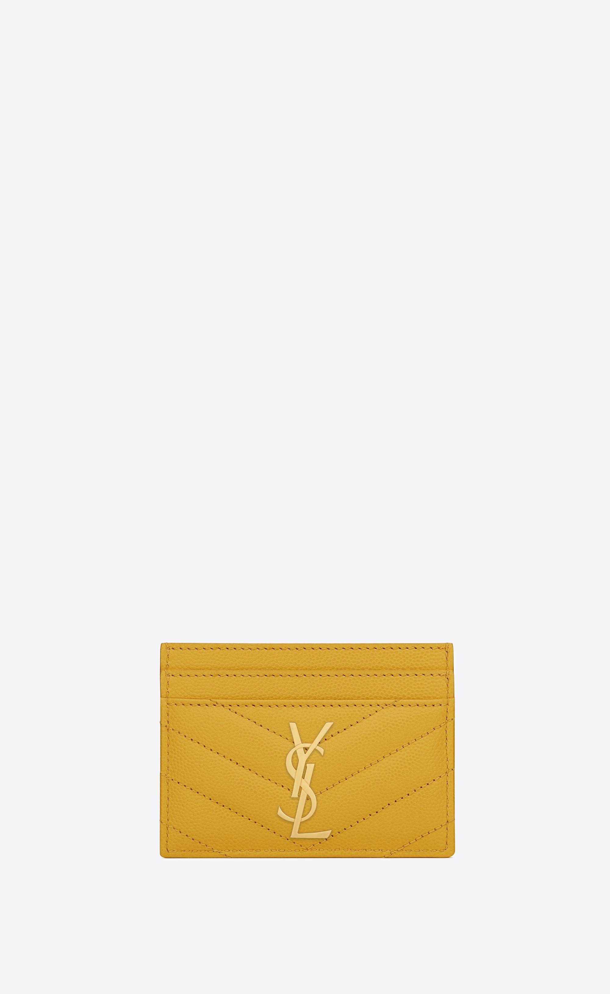 21034736dff  Saint Laurent Monogram Card Case In Grain De Poudre Embossed Leather |  YSL.com