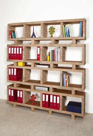A4adesign mobili complementi oggetti e decorazioni in cartone bookstack bookcase shelve - Mobili in cartone pressato ...