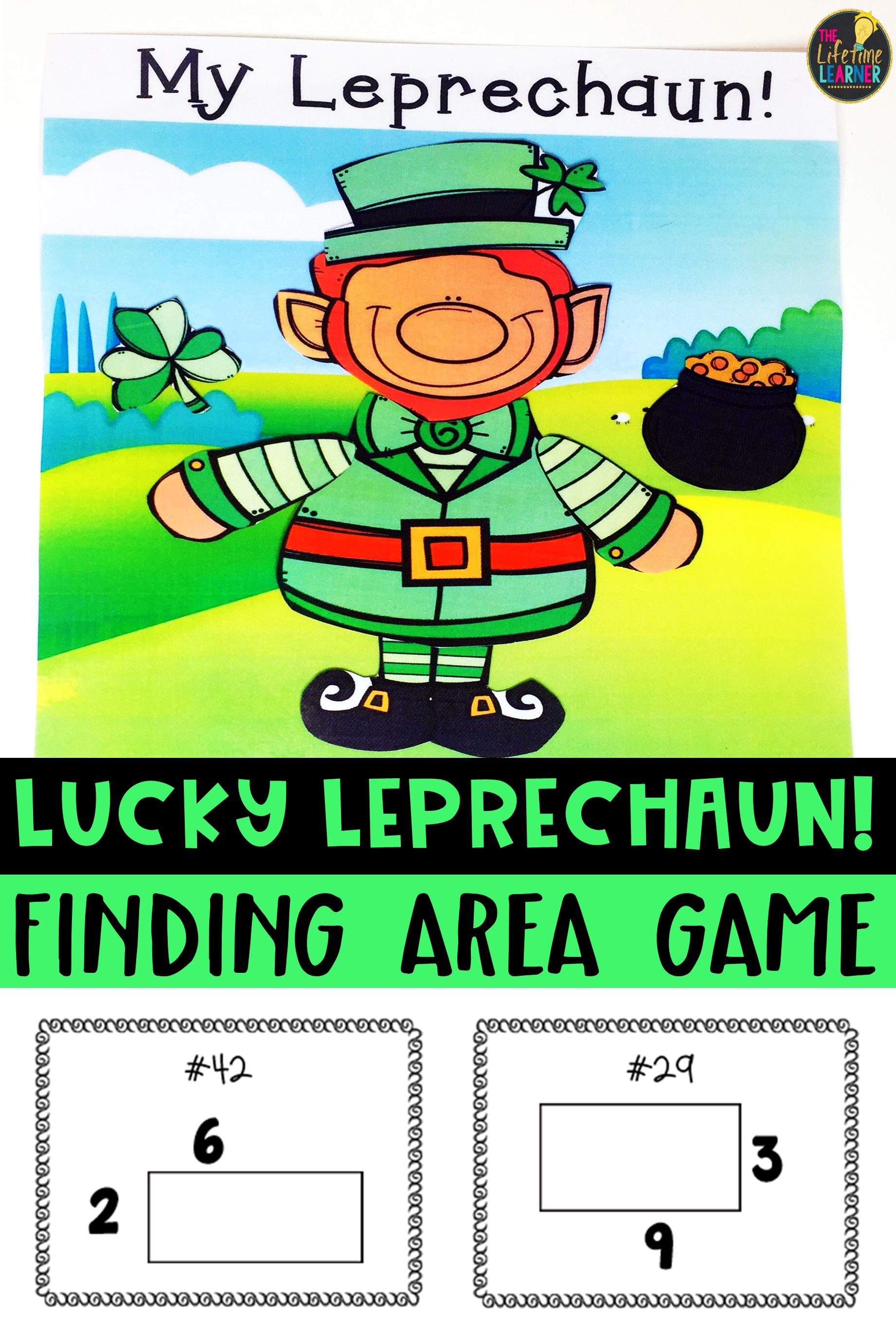 Saint Patrick S Day Area Of Rectangles Game