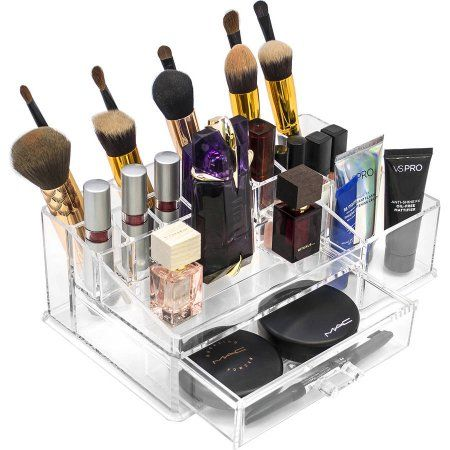 Sorbus Acrylic Cosmetics Makeup And Jewelry Storage Case Display Sets    Interlocking Drawers To Create Your Own Specially Designed Makeup Counter    Each ...