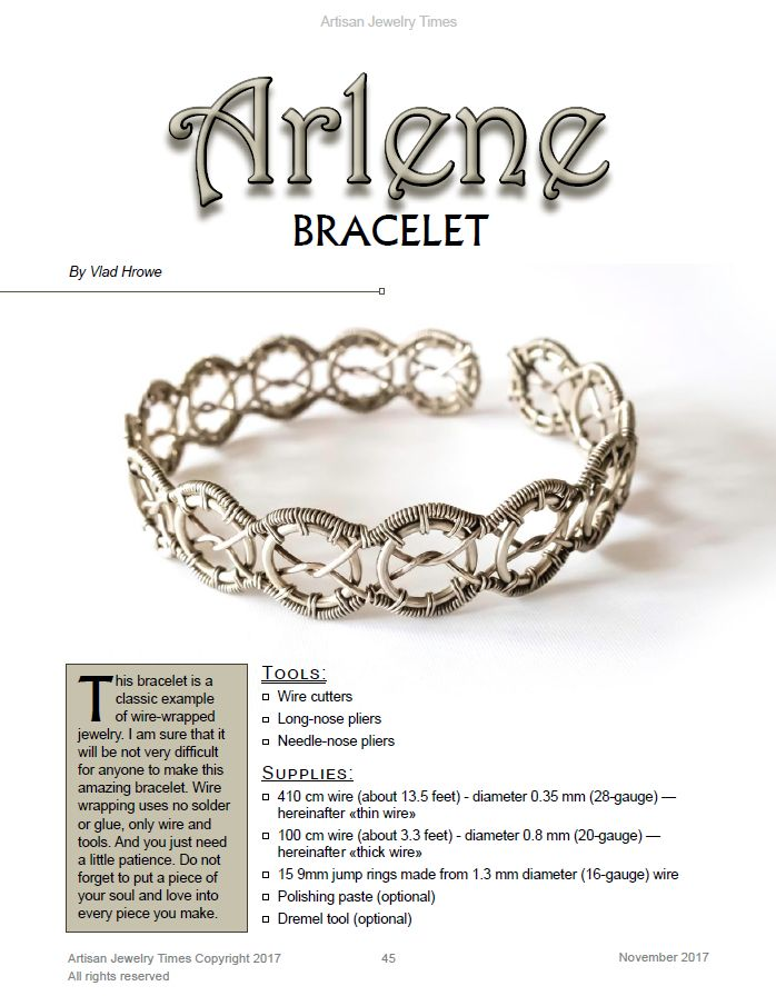 Vlad hrowe shares his wire wrap tutorial on his arlene bracelet in vlad hrowe shares his wire wrap tutorial on his arlene bracelet in the november 2017 issue of ajt greentooth Gallery