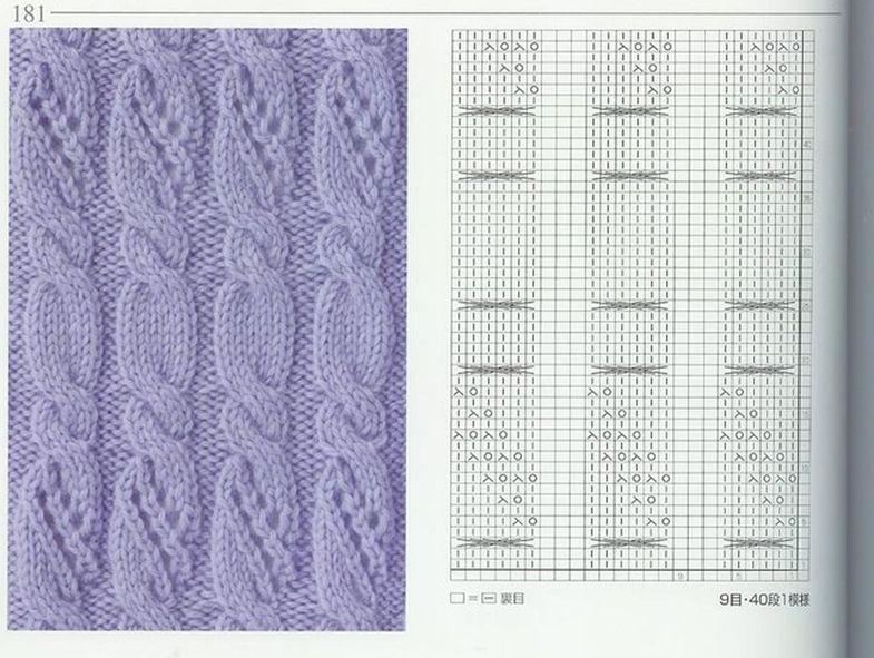 nice beautiful knitting stitches pattern lace aran красивые узоры на ...