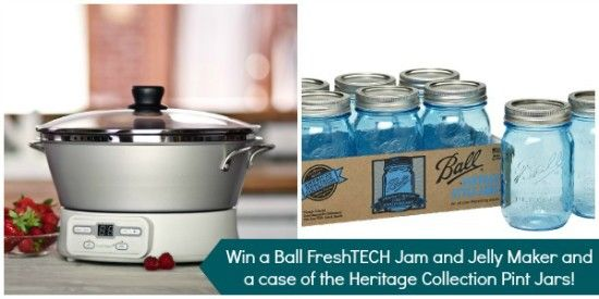 Win a Ball jam and jelly maker plus a case of blue Heritage Collection jars!  #heritageblue #giveaway #masonjars #DIY
