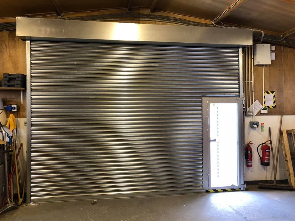 Steel Roller Shutter With Wicket Door Fitted For Richfords Fire