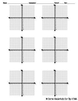Graph Paper Four Quadrant