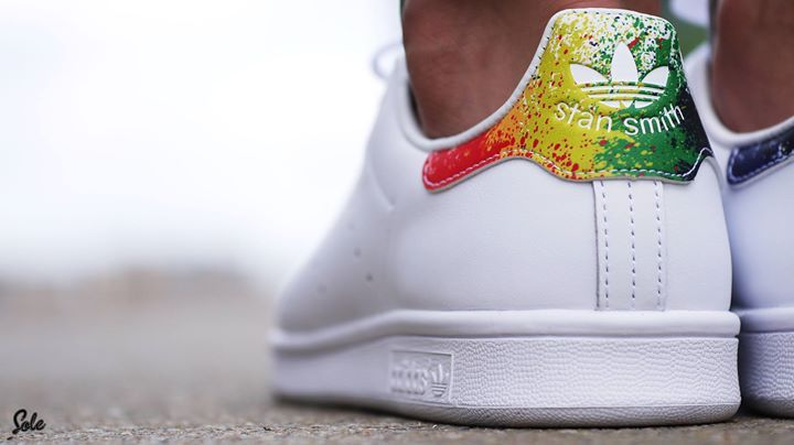 5c8f1ee7175b8a Is the adidas Stan Smith  Rainbow Splatter  the best pride release ...
