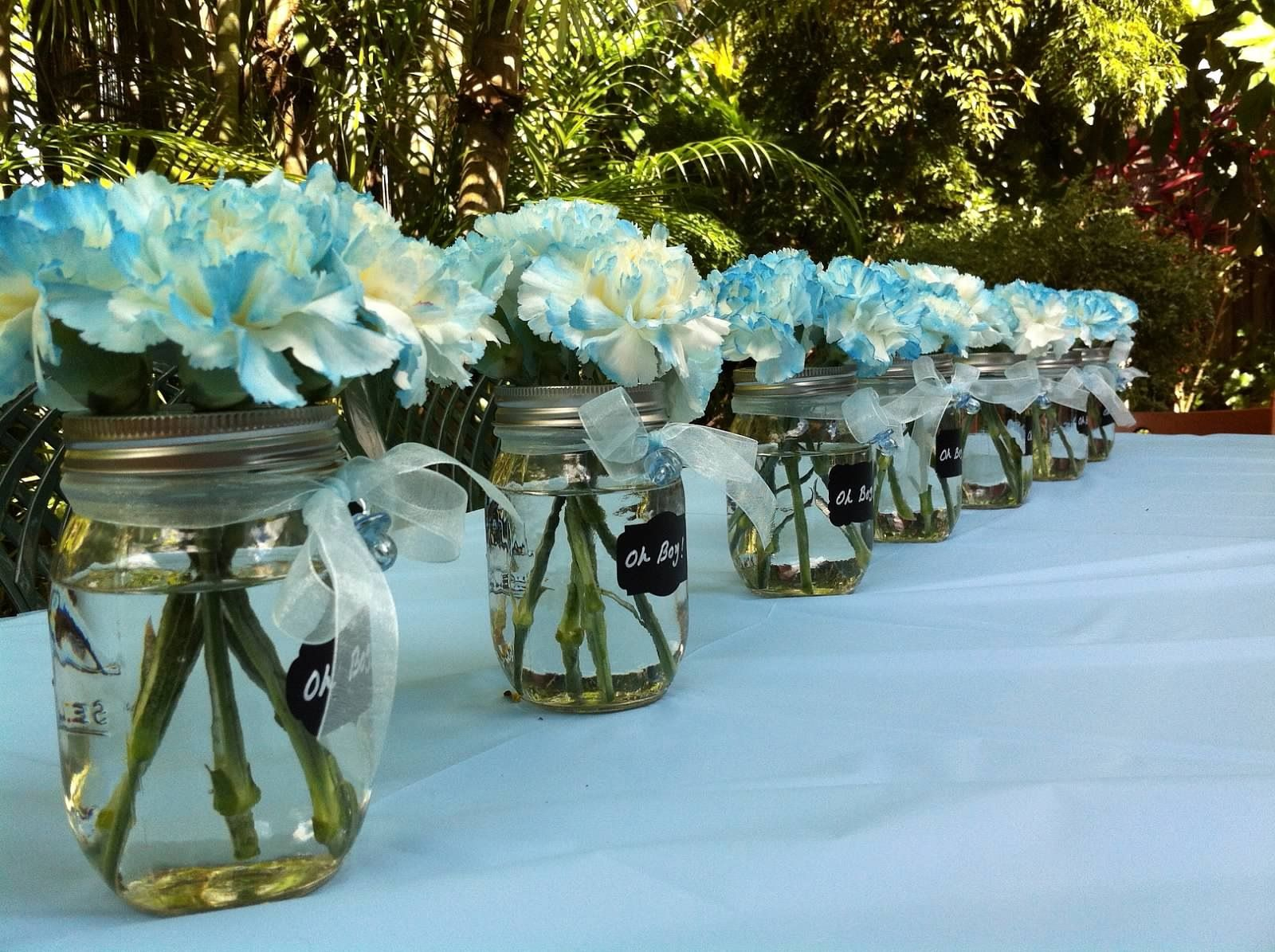 A Boy Baby Shower Ideas More Baby Shower Flowers Boy Baby