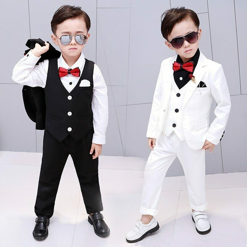 New Boys Suits Tuxedos For Weddings Boys Formal Occasion Little Men Suits Children Kids Wedding Party Boys Formal Wear Jacket Pants Formal Boys Clothes Formal B Kids Formal Wear Boys Formal Wear