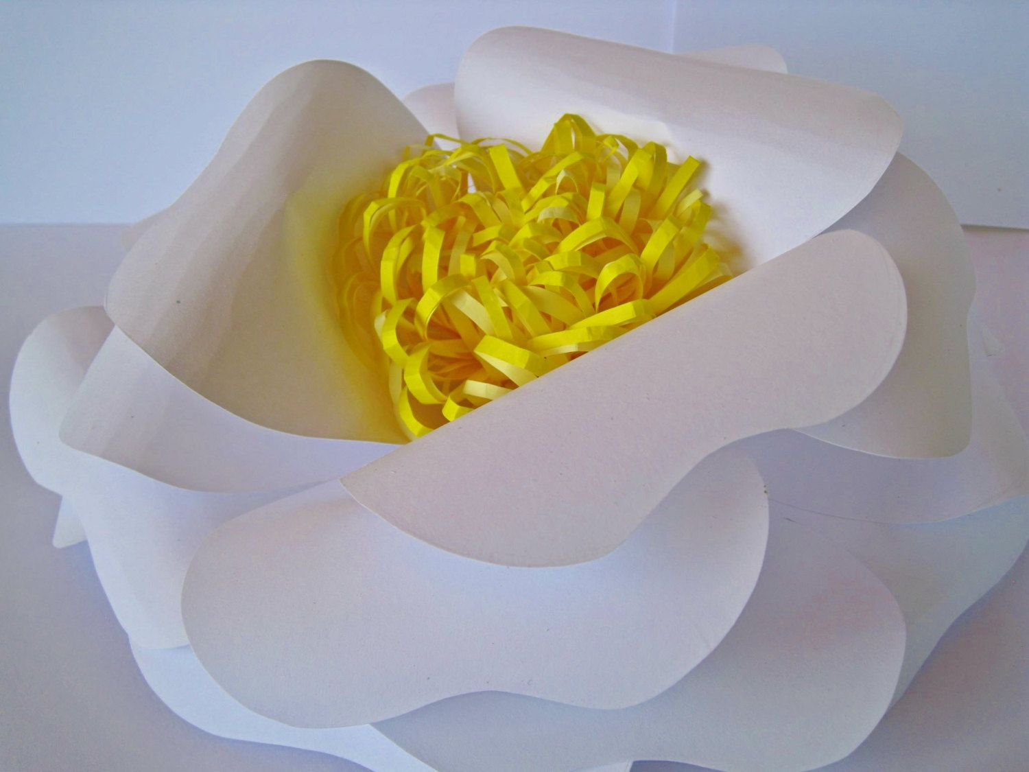 White Paper Flower, Big Paper Flower, Extra Large Flower, Giant ...