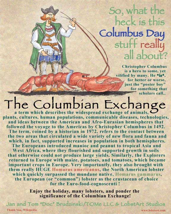 Enjoy the day to celebrate the great Columbian Exchange