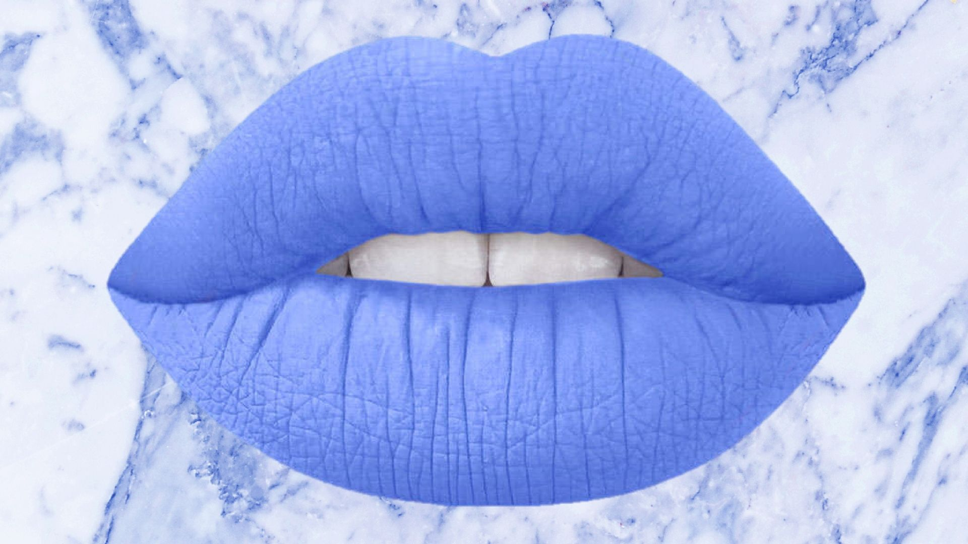 Blue Marble Lips Wallpaper #lipswallpaper