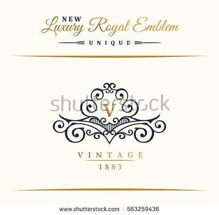 Calligraphic luxury line logo flourishes gold frame emblem calligraphic luxury line logo flourishes gold frame emblem monogram royal vintage design stopboris Gallery