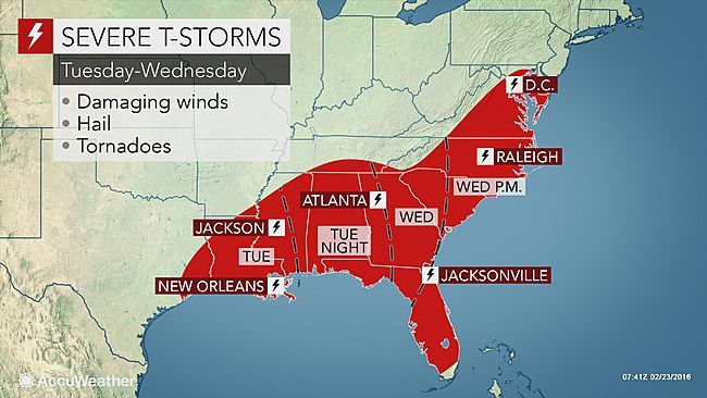 Severe Storms Tornadoes To Eye Louisiana To Florida Severe Storms Tornadoes Storm
