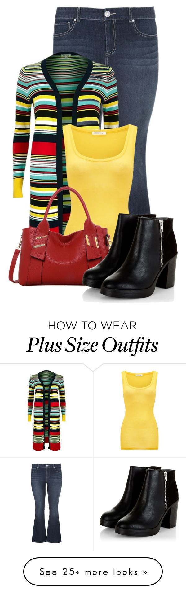 """""""Untitled #15949"""" by nanette-253 on Polyvore featuring maurices, River Island, American Vintage and LineShow"""