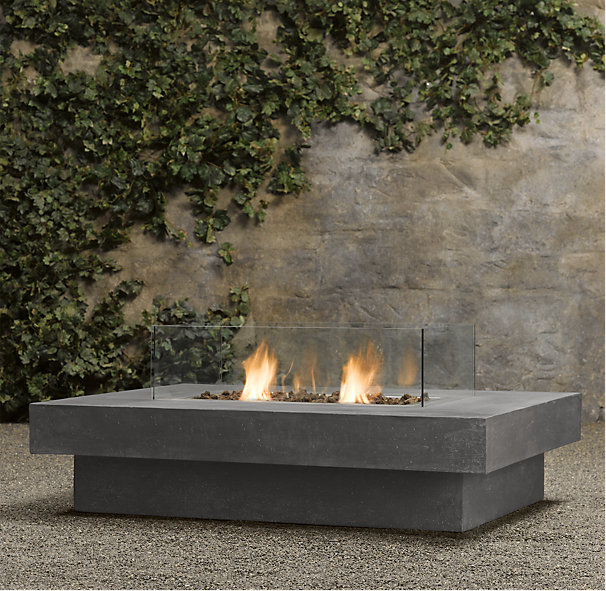 7 Stand Alone Fireplaces Worth The Splurge Restoration Hardware Outdoor Fire Table Indoor Outdoor Fireplaces