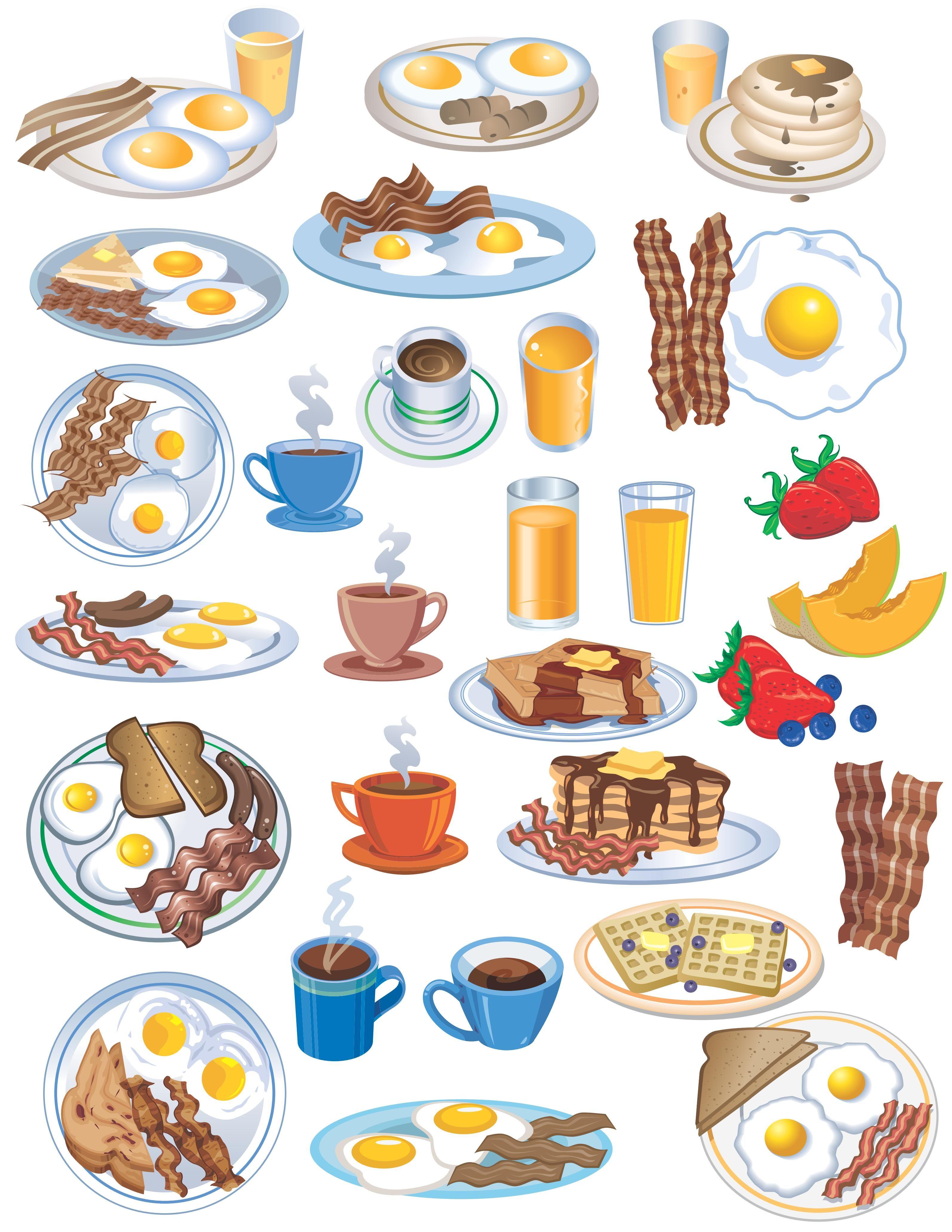 Breakfast Vector Pack [EPS File] bardak, bread