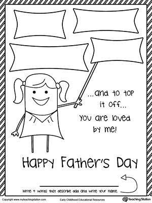 Father S Day Card From Daughter Four Words That Describes Dad