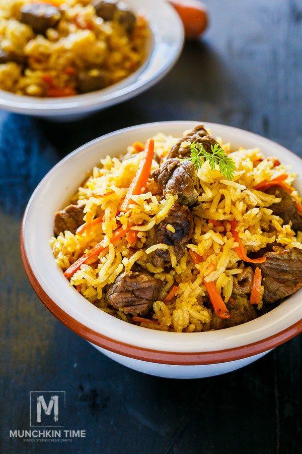 One Pot Meal Beef Rice Pilaf Recipe Uzbek Plov It Is So Good Www Munchkintime Com Pilaf Recipes Rice Pilaf Recipe One Pot Meals