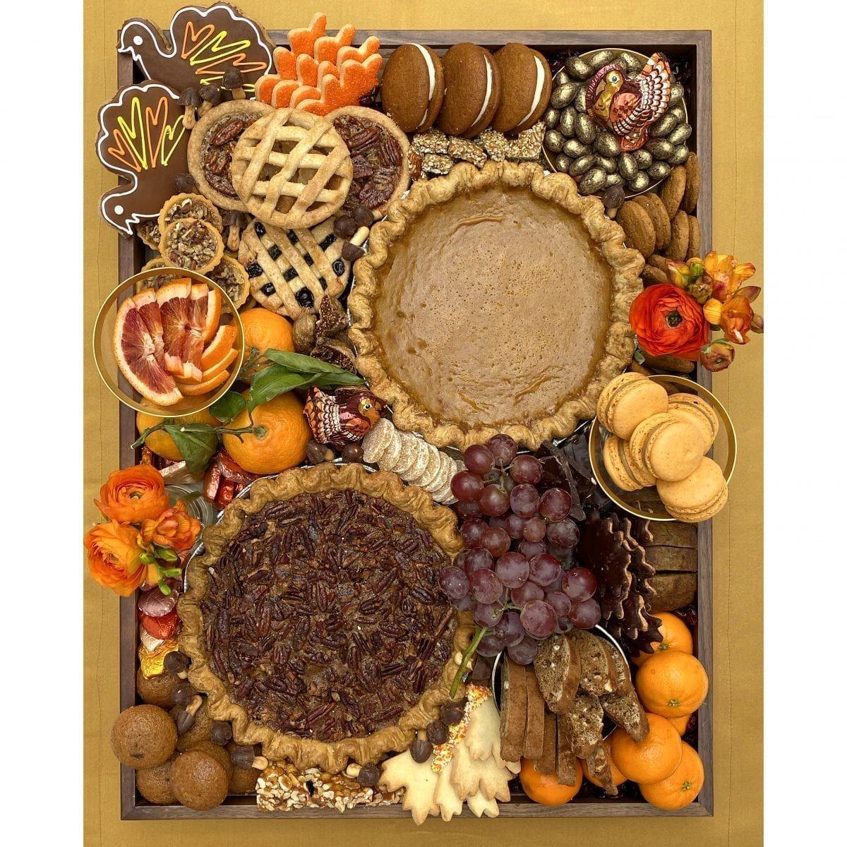 Thanksgiving Dessert Board Darcy Miller Designs Thanksgiving Platter Thanksgiving Snacks Thanksgiving Desserts