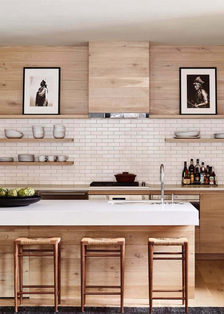Blonde Wood Kitchen Cabinets Refreshing Change Of Pace From White Home Decor Kitchen Interior Design Kitchen Kitchen Interior