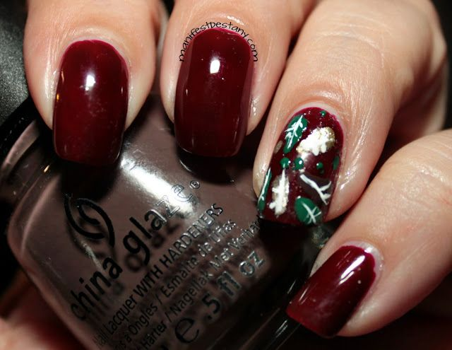 Confessions of a Sarcastic Mom: Marvelous Monday Manis - fall leaves!