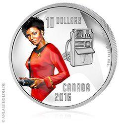 Lieutenant Nyota Penda Uhura aus Star Trek - Silbermünze