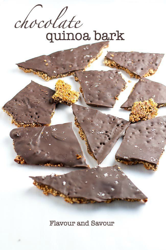 Deliciously addictive vegan treat! This Healthy Quinoa Chocolate Bark is full of superfoods, like q