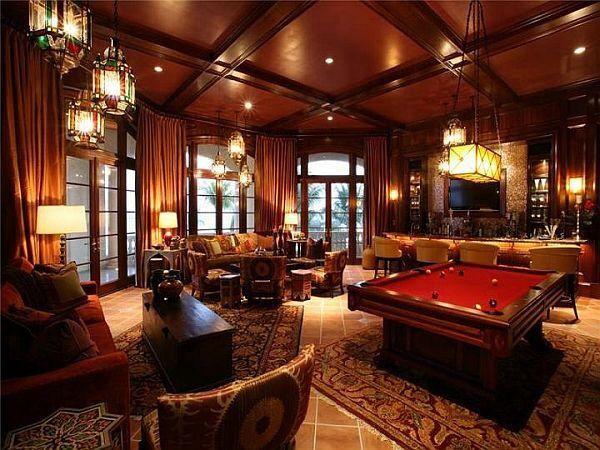 Luxury Man Cave Game Room Bar Luxury Mansions Interior