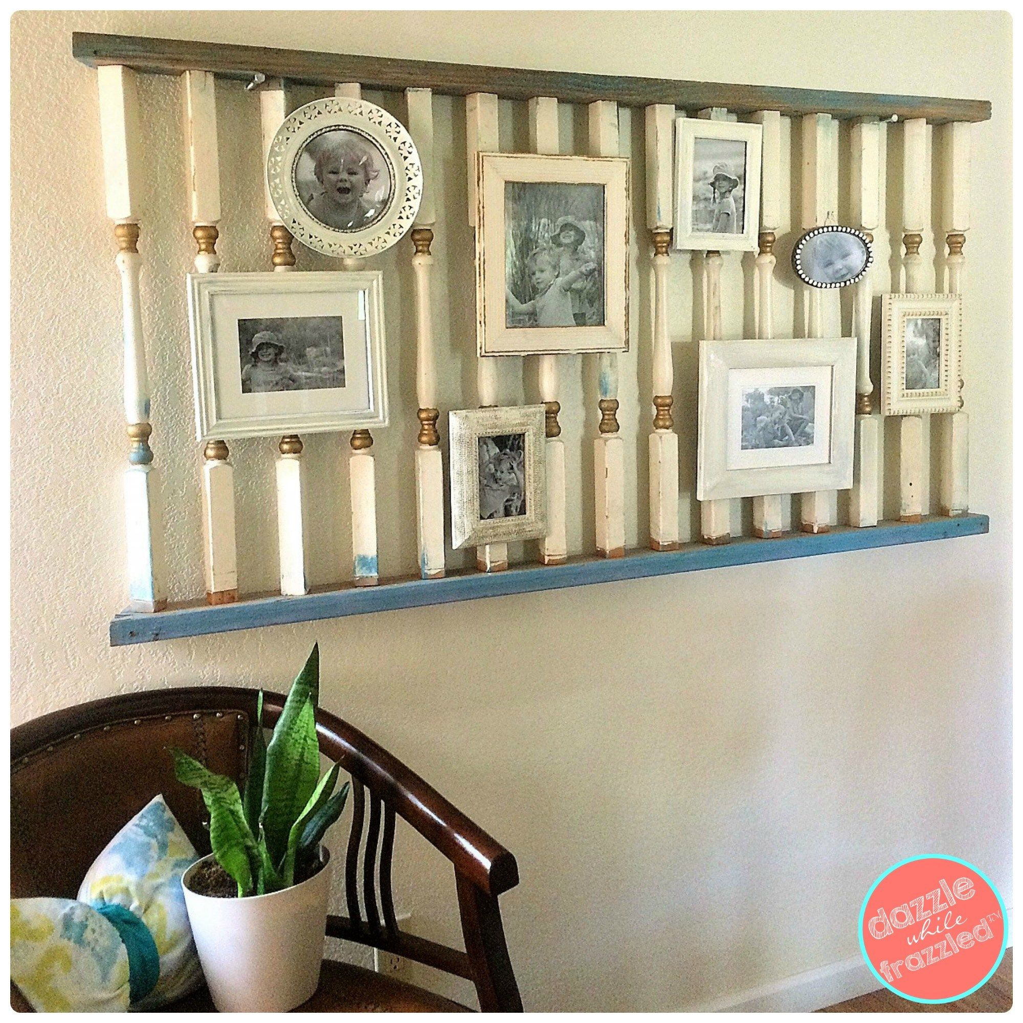 Gallery wall from salvage yard to modern photo swag gallery wall