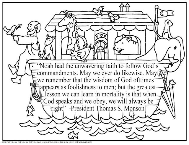 Noahs Ark Quote By Thomas S Monson LDS