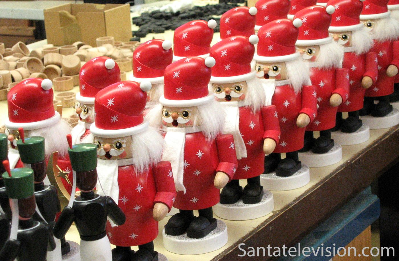 Il villaggio di Natale tedesco a Seiffen in Germania