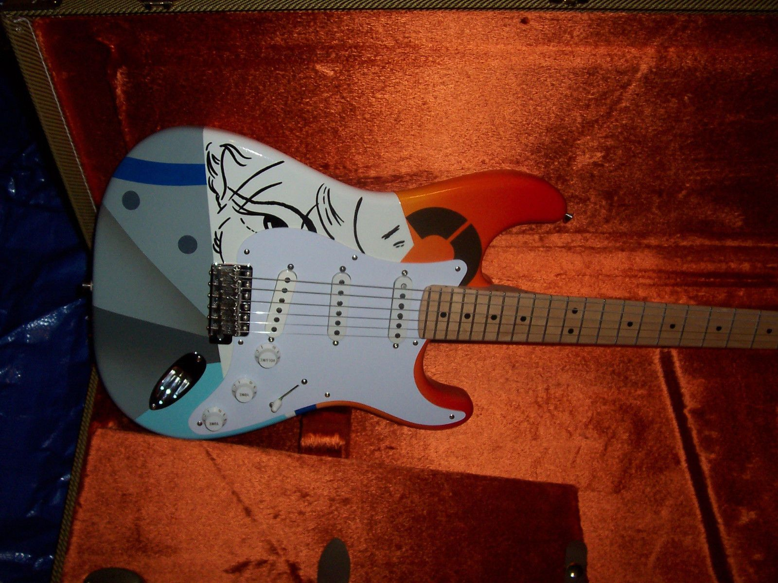 crash 1 eric clapton fender stratocaster guitar strat usa american vintage desig [ 1600 x 1200 Pixel ]