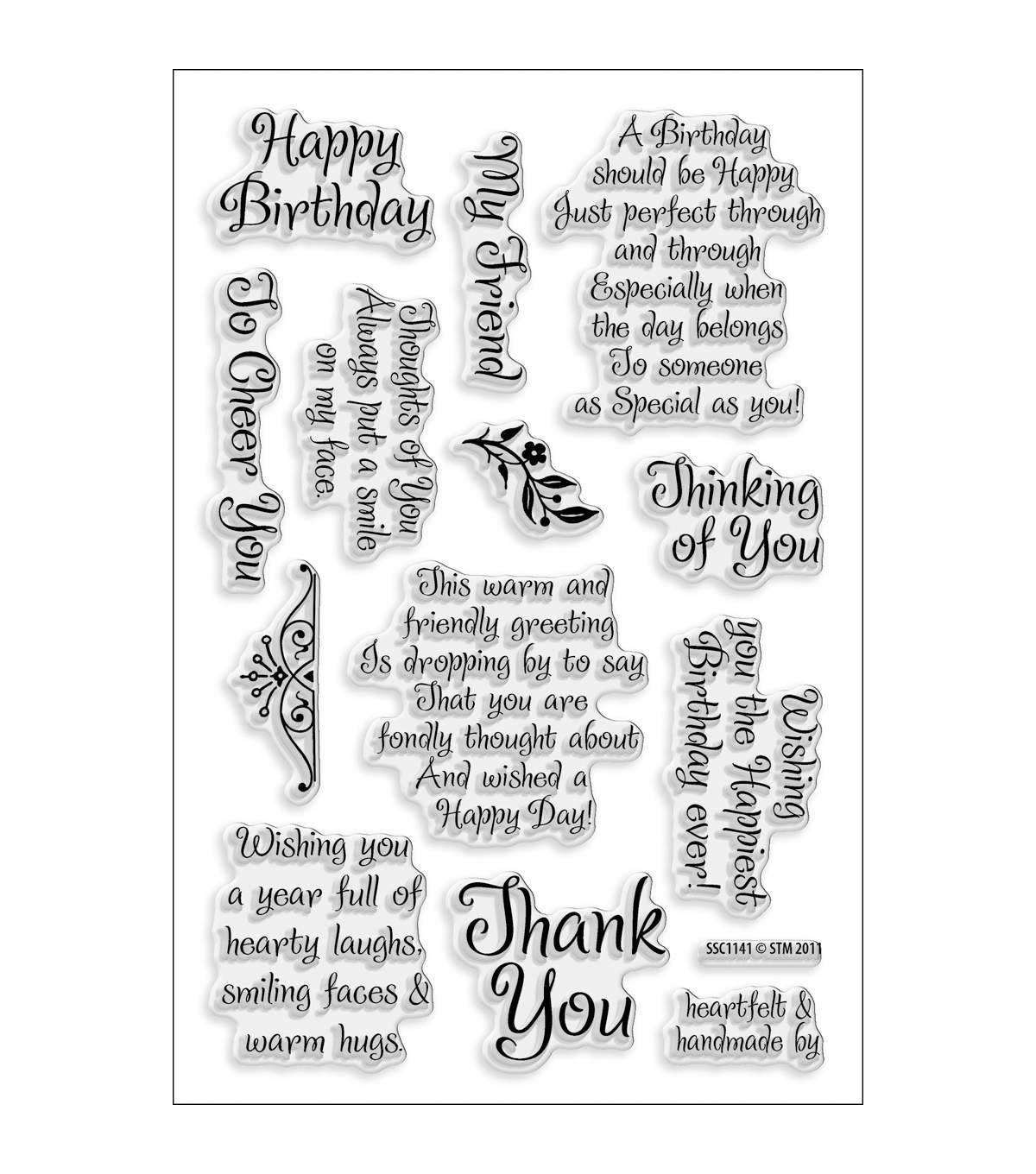 Stampendous Perfectly Clear Stamps 4x6 Sheet Friendly Phrase