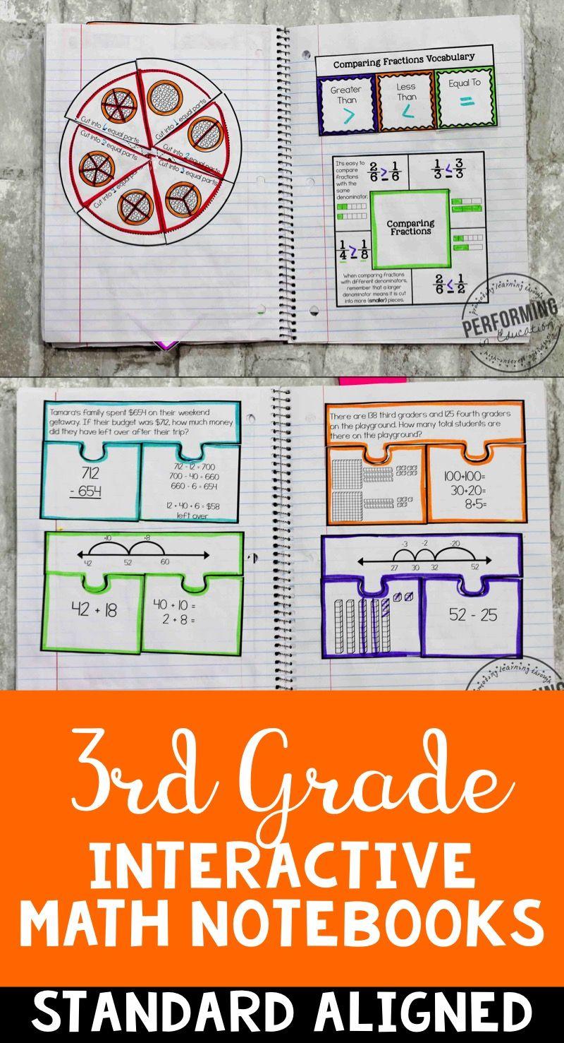 Interactive Math Notebook ALL 3rd Grade Common Core Bundle ENTIRE ...