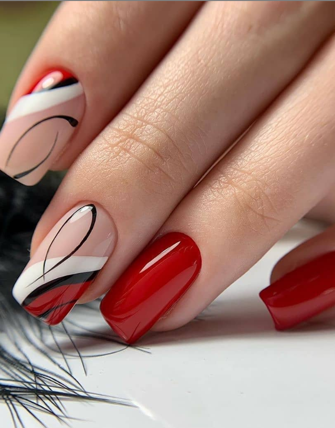 120 Pretty Natural Short Square Nails Design For Summer Nails Page 2 Of 2 Latest Fashion Trends For Woman In 2020 Square Nail Designs Square Nails Nail Designs