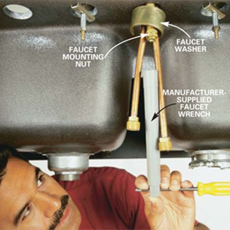 How To Replace A Kitchen Faucet Kitchen Faucet Faucets Diy Faucet