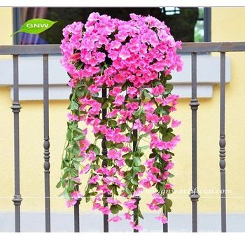 Artificial Flower Garland For Hotel Wedding Wall Decoration Flv05 Gnw Hanging Orchid Orchids Wedding Wall Decorations