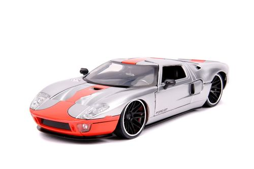 2005 Ford Gt Silver 1 24 Scale Diecast Car Model By Jada Toys 31324 Ford Gt Diecast Cars Car Model