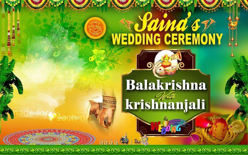 Wedding Banners Design Psd Template Free Naveengfx Flex Banner