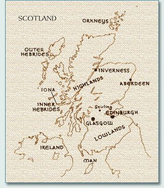 Map Of Scotland Ireland And Irish Stuff Scotland Macbeth