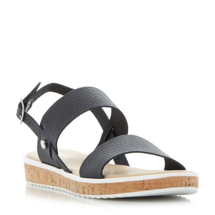 Blue Cork Flatform Sandals - Blue Dune London W0DPMrX7o