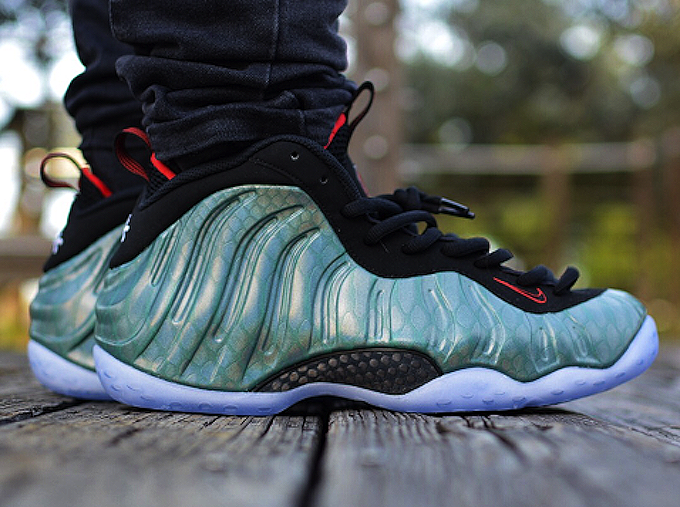 online store 94de8 e2085 gone-fishing-nike-foamposite on feet