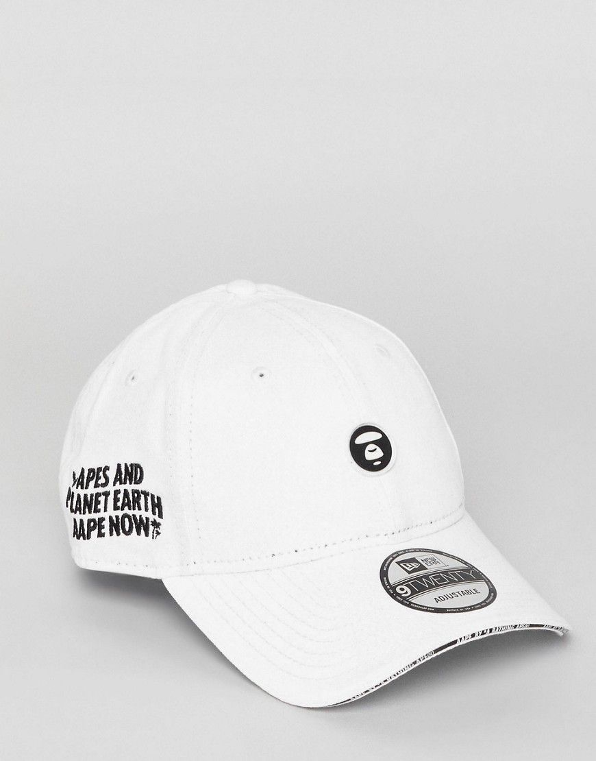 5757a452dc6 AAPE By A Bathing Ape Baseball Cap With Small Logo - White