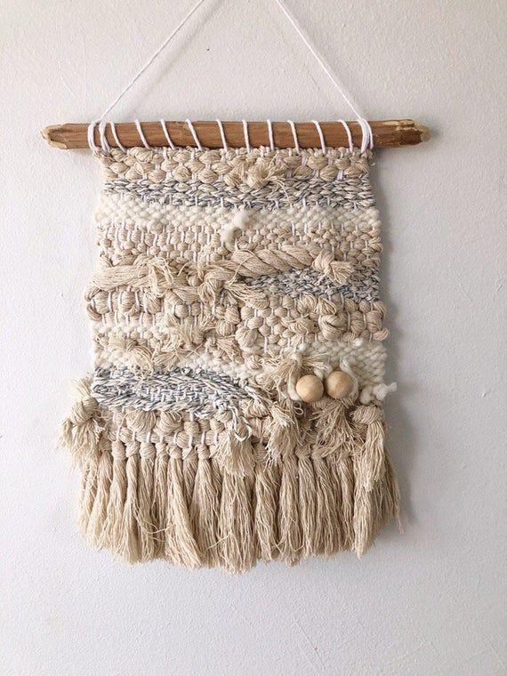 9″ wide weaving, woven wall hanging, wall decor, home decor, fiber art, interior decor, handmade decor, weaving, wall weaving, tapestry