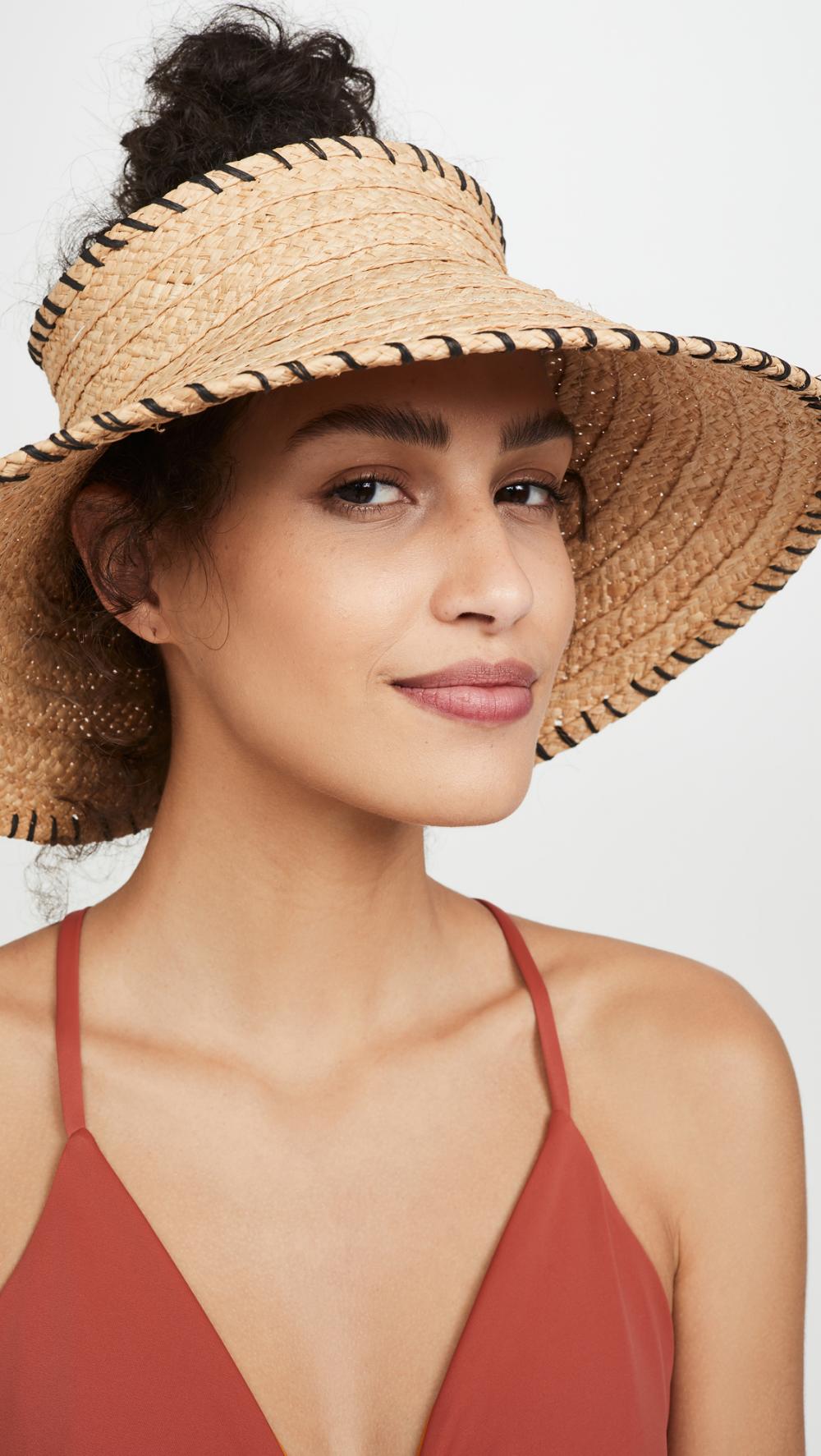 Hat Attack Mini Roll Up Visor Vacation Outfits Women Beachwear Fashion Mini Rolls