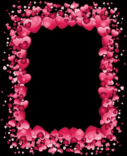 valentines day pink heart border transparent png clip art