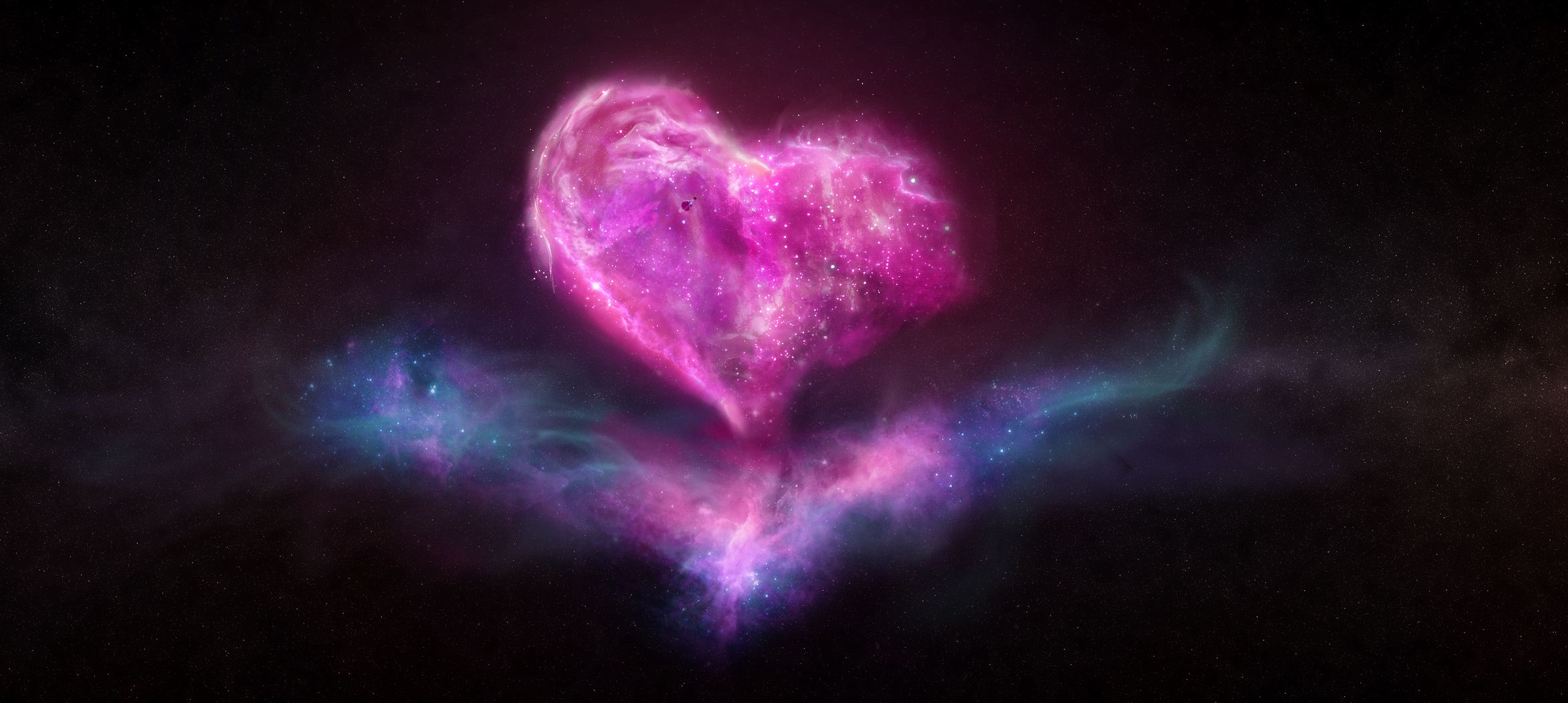 Love Wallpaper For Galaxy E7 : galaxy-heart-space-love-desktop-2348x1052-wanted-wallpaper-1.jpg (JPEG Image, 2348x1052 pixels ...