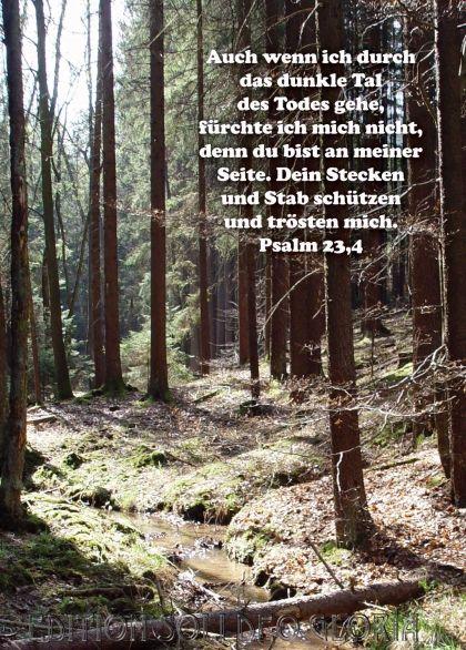 Beileidswunsche Fur Karten: Kondolenzkarte, Psalm 23