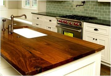 Another Beautiful Walnut Plank Style Top What A Luxurious Kitchen