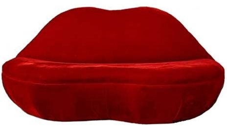 Lips Sofa | Funky Salvador Dali Lips Shaped Couch for $1399.99